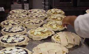 making pies at Parolee's